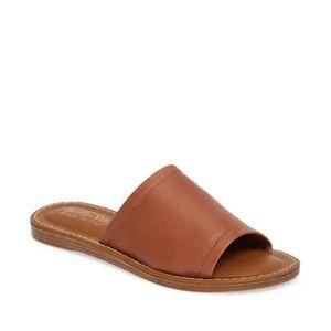Bella Vita Ros Tan Leather Slide Sandal